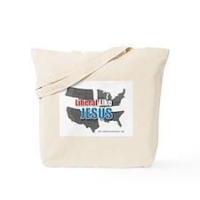USA Grey Map Tote Bag