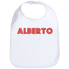 Retro Alberto (Red) Bib