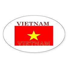 Vietnam Vietnamese Flag Oval Decal
