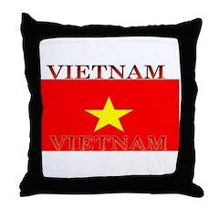 Vietnam Vietnamese Flag Throw Pillow