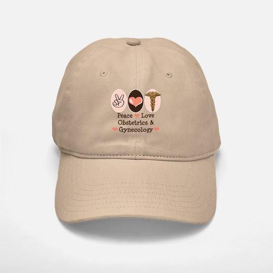 Peace Love OB/GYN Doctor Baseball Baseball Cap