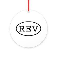 REV Oval Ornament (Round)