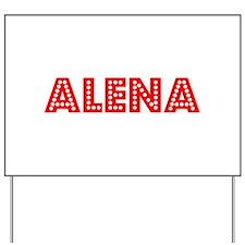 Retro Alena (Red) Yard Sign