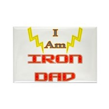 I am IronDad Rectangle Magnet (10 pack)