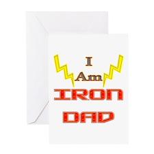 I am IronDad Greeting Card