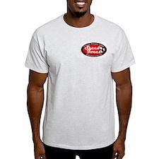 Speed Tones Ash Grey T-Shirt (Motorcycle)