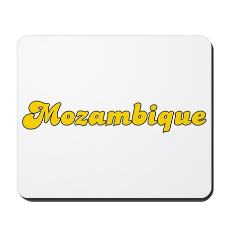 Retro Mozambique (Gold) Mousepad