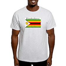 Zimbabwe Zimbabwean Flag Ash Grey T-Shirt