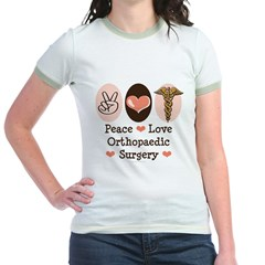 Peace Love Orthopaedic Surgery Jr. Ringer T-Shirt