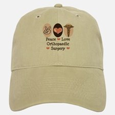 Peace Love Orthopaedic Surgery Baseball Baseball Cap