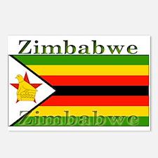 Zimbabwe Zimbabwean Flag Postcards (Package of 8)