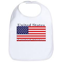 USA American Flag Bib