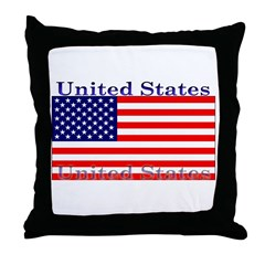USA American Flag Throw Pillow
