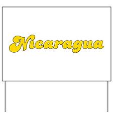 Retro Nicaragua (Gold) Yard Sign