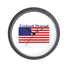 USA American Flag Wall Clock