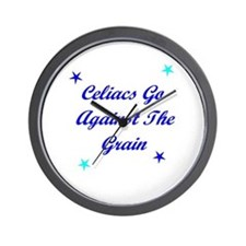 Celiacs Go Against The Grain Wall Clock