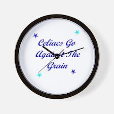 Celiacs Go Against The Grain Wall Clock