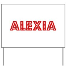 Retro Alexia (Red) Yard Sign