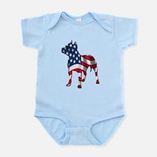 Patriotic Pit Bull Design Infant Bodysuit