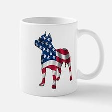patriotic pit bull silhouette Mug
