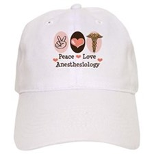 Peace Love Anesthesiology Baseball Cap
