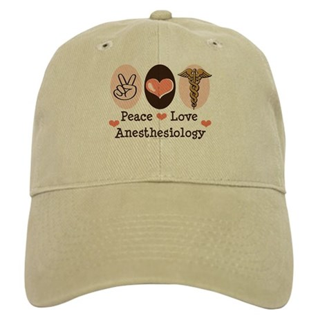 Peace Love Anesthesiology Cap