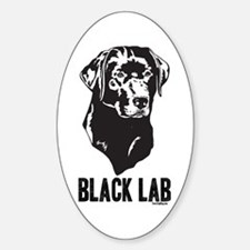 Black Lab Oval Decal