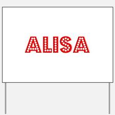 Retro Alisa (Red) Yard Sign