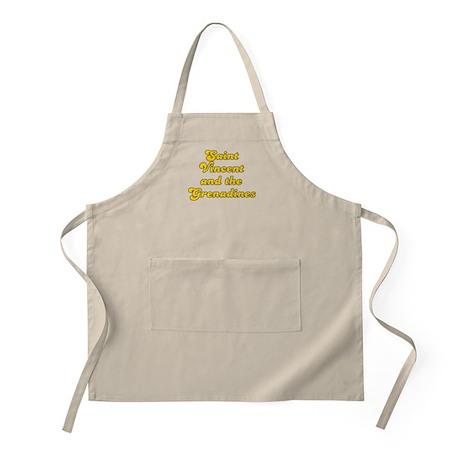 Retro Saint Vincen.. (Gold) BBQ Apron