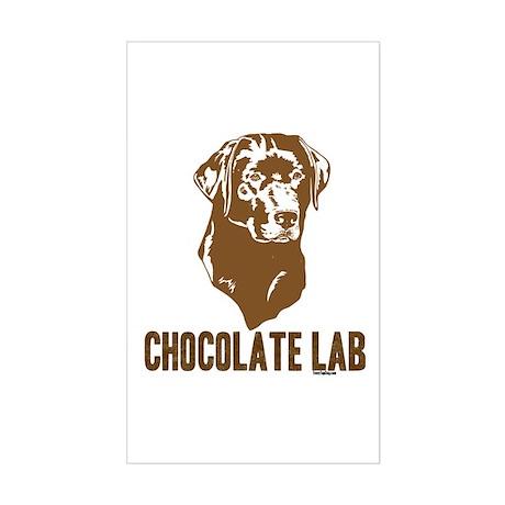 Chocolate Lab Rectangle Sticker