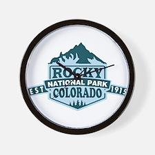 Rocky Mountain - Colorado Wall Clock