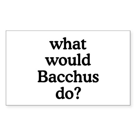 Bacchus Rectangle Sticker