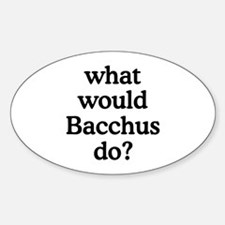 Bacchus Oval Decal