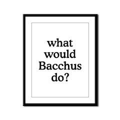 Bacchus Framed Panel Print
