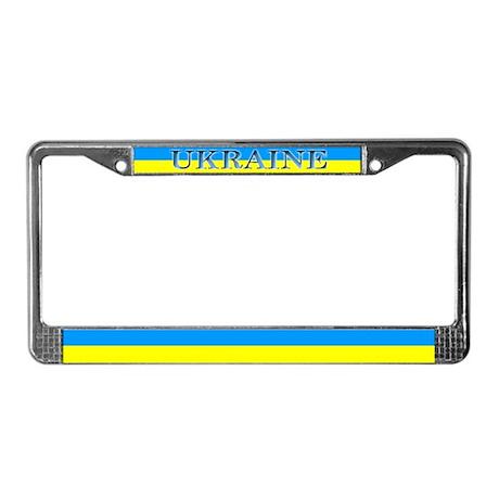 Ukraine Ukrainian Flag License Plate Frame