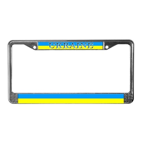 Ukraine Ukrainian Flag License Plate Frame By Allflags