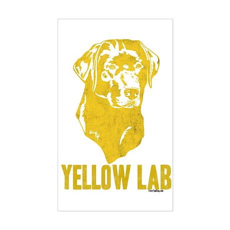 Yellow Lab Rectangle Sticker