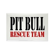 PitBull Rescue Team Rectangle Magnet