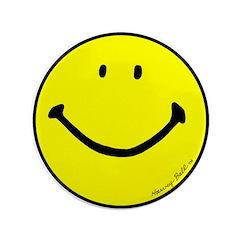 """Signature Smiley"" 3.5"" Button (100"