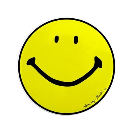 """Signature Smiley"" 3.5"" Button (100"
