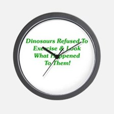 Dinosaurs Refused To Exercise Wall Clock