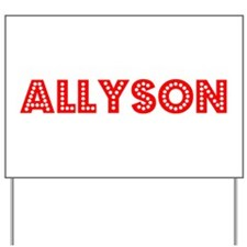 Retro Allyson (Red) Yard Sign