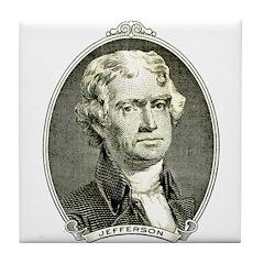 President Jefferson Tile Coaster