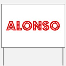 Retro Alonso (Red) Yard Sign