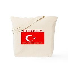 Turkey Turkish Flag Tote Bag