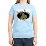 Bronco Buster Women's Pink T-Shirt