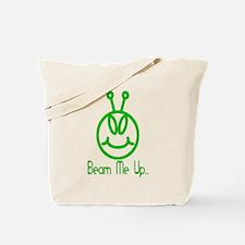 Alien Smile Beam Me Up Tote Bag