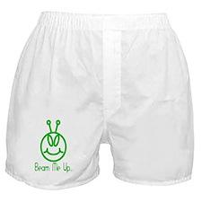 Alien Smile Beam Me Up Boxer Shorts