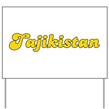 Retro Tajikistan (Gold) Yard Sign