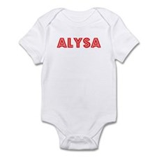 Retro Alysa (Red) Onesie
